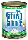 Natural Balance Vegetarian Formula Dog Food (Pack of 12 13-Ounce Cans), My Pet Supplies