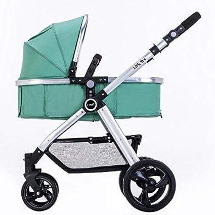 Cochecito de bebé Sillas de paseo El verano puede sentarse Acuéstese Caminador de dos vías para