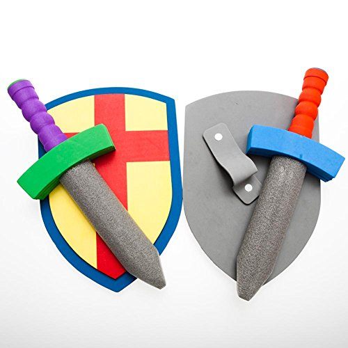 Foam Sword And Armor Set (just 1 set sword + shield) (Colors May Vary) (Make Believe Fancy Dress)