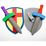 Foam Sword And Armor Set (just 1 set sword + shield) (Colors May Vary)