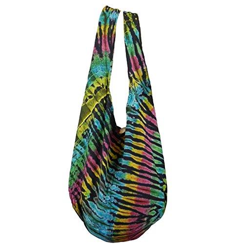 Hippie Colorful Vc5 Midnight BTP Firework Hobo Crossbody Rainbow Cotton Dye Shoulder Purse Tie Bag Bohemian Sling pqw0BPg