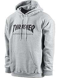 Skate Mag Logo Hooded Sweatshirt (Grey)