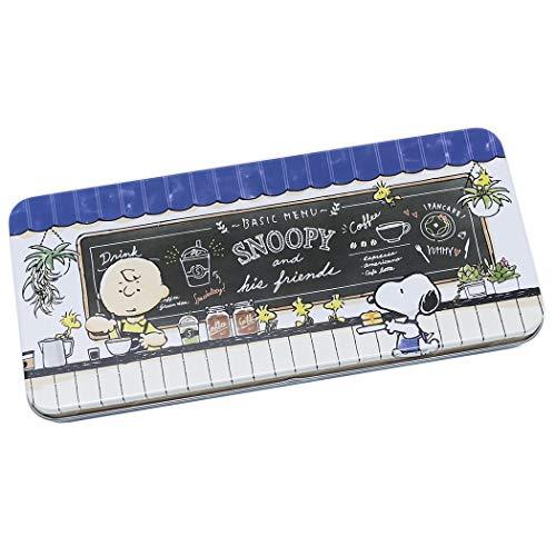 (Snoopy Peanuts Tin Pencil Box (sizes: W7.5 x D3.25))