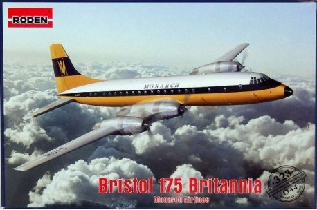 Roden 323–Model Kit Bristol 175Britannia Monarch Airlines Grey