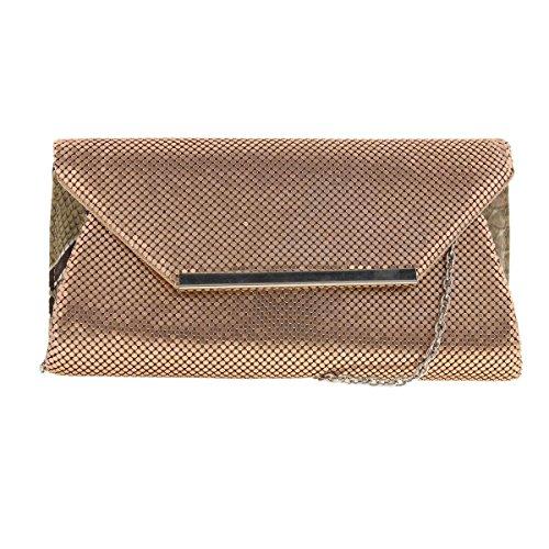 la-regale-womens-mesh-evening-clutch-handbag-bronze-small