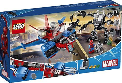 LEGO Marvel Spider-Man Spider-Jet vs Venom Mech 76150 Superhero Gift for Kids with Minifigures, Mech and Plane (371…