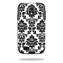 Mightyskins Protective Vinyl Skin Decal Cover for OtterBox Commuter Samsung Galaxy S4 Case wrap sticker skins Vintage Damask