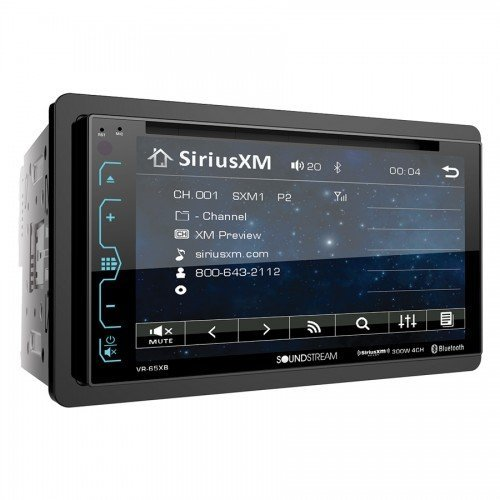"SOUNDSTREAM DOUBLE DIN VR-65XB DVD/CD MP3 PLAYER 6.2"" LCD BL"