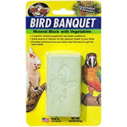 Zoo Med Laboratories BZMBBVS Bird Banquet Vegetable Mineral Block, Small