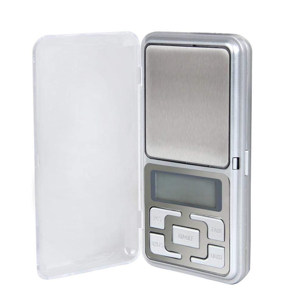 500 g x 0,1 g báscula digital joyería oro hierba equilibrio peso Gram LCD: Amazon.es: Hogar