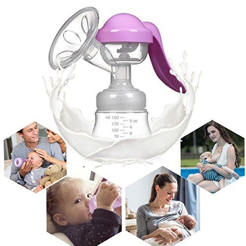 Manual Breast Pump Silicone Hand Pump Breastfeeding Food Grade BPA Free Manual Pump with Lid Portable Milk Saver for Breast Feeding by vadalala (Image #6)