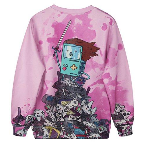 Camiseta de ocio para mujeres YICHUN sudaderas delgadas Tops impresos Pullovers suéter casual blusa jerséis Printing 2#