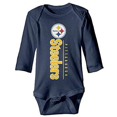Boxer98 Babys Pittsburgh Football Steelers Team Long Sleeve Bodysuit Baby Onesie