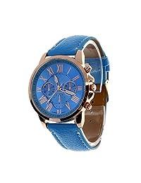 Women Fashion Watches,Women's Roman Numerals Faux Leather Analog Quartz Wrist Watch