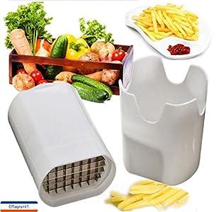 Cflagrant® Coupe Frite/Legumes Manuel Génial – Livré avec 2 grilles de coupe – coloris aléatoire