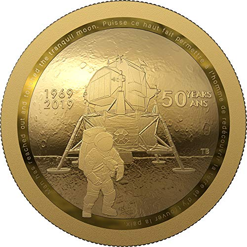2019 CA Modern Commemorative PowerCoin MOON LANDING 50th Anniversary Dome Gold Coin 100$ Canada 2019 Proof