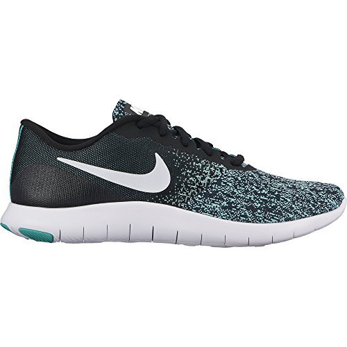 Nike Unisex Adults' WMNS Flex Contact Fitness Shoes, Black Black/ White-light Aqua-clear Jade