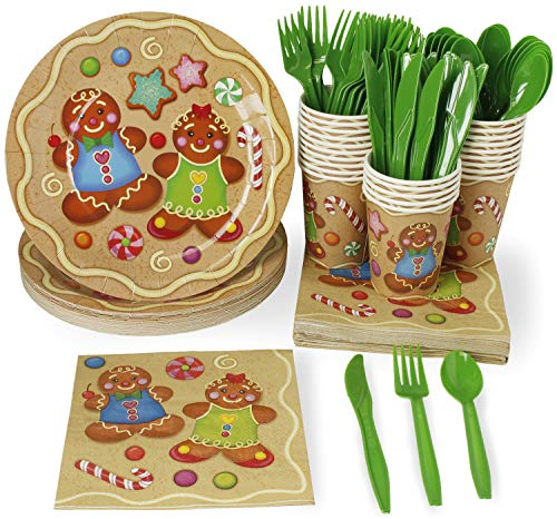 Christmas Disposable Dinnerware Set - Serves 24 -