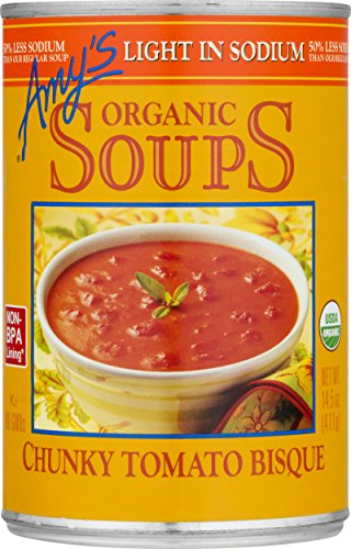- Amy's Soups, Low Sodium Chunky Tomato Bisque