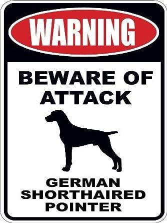 Amazon.com: Advertencia cuidado con de ataque alemán de pelo ...