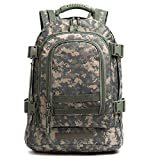 WolfWarriorX 3-Day Expandable Backpack Military Backpack Molle Assault Bag Hiking Bag Large Rucksack for Comping, Traveling, Trekking & Hunting