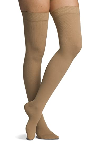 b86ccd3a56c SIGVARIS Men s COTTON 230 Closed Toe Thigh high w  Grip-Top Compression 20-
