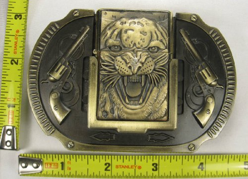 TIGER LIGHTER BELT BUCKLE CUFFS product image