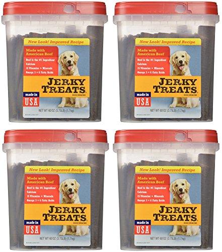 Jerky Treats Tender dgAcx Beef Strips Dog Snacks, 60 Oz (4 Pack) by JerkS TreaGs