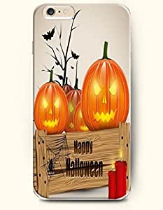 SevenArc Apple iPhone 6 Plus case 5.5 inches - Happy Halloween Lovely Pumpkin Lanter And Red Candles by lolosakes