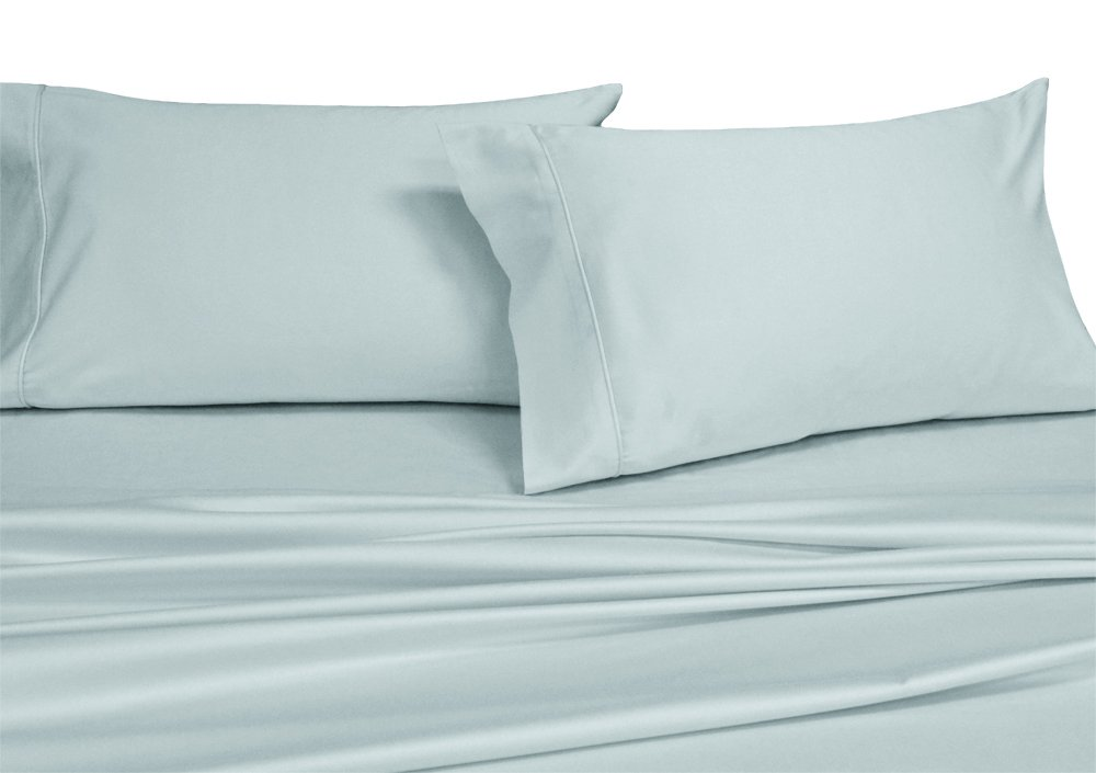 Royal's Solid Sea 1000 Thread Count 2PC Standard Pillowcases Set 100% Cotton, Sateen Solid