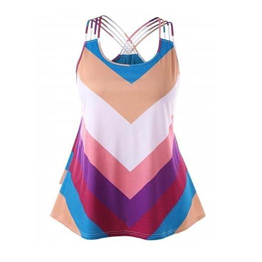 5c903870d2 Amazon.com: FINME Ladies' Rainbow Striped Basket-Weave Bandages ...