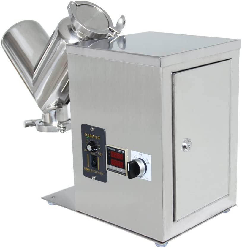 YJINGRUI 2L Powder Mixer Lab Dry Powder Granules Mixing Machine V Type Powder Mixer Blending Machine for Laboratory Chemical Medical TH-2 220V