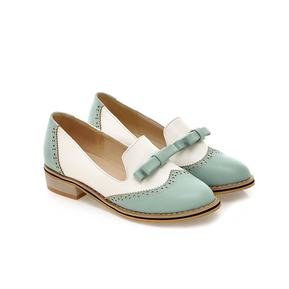 Spring Summer Fashion Vintage Casual Brogue Women's Low Heel Sweet Bowknot Oxfords Dance Shoes by leanna