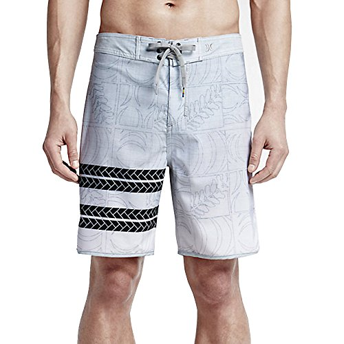 Hurley Mens Phantom Block Party Sig Zane Eolakoa Boardshorts, Wolf Grey - 31