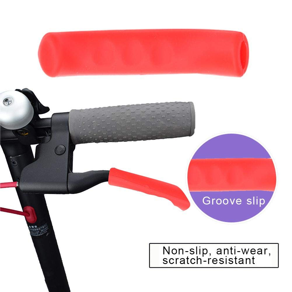 HUVE Silicone Brake Cover For Xiaomi M365 Scooter Brake Handle Protective Cover Foot Support Cover,Anti-Skid Scratch-resistant