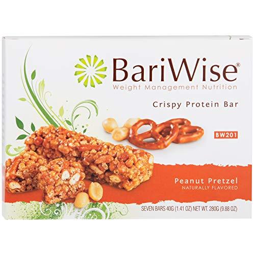 BariWise Crispy Protein Bar - Peanut Pretzel (7ct), High Protein Bars, Trans Fat Free, Aspartame Free