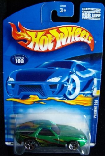 #2001-103 Porsche 928 Large/Small Wheels Collectible Collector Car Mattel Hot Wheels 1:64 Scale