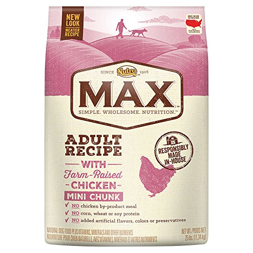 (Nutro Max Adult Mini Chunk Dry Dog Food With Farm Raised Chicken, 25 Lb. Bag)
