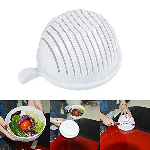 Leegoal(TM) 60 Second Salad Maker Salad Chopper Cutter Bowl Manual Vegetable Slicer, Great Helper for Home (Slit Fit Cam)