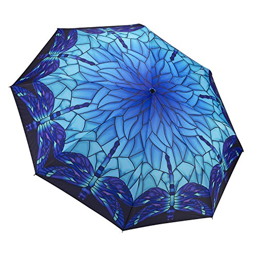 Galleria Stained Glass Dragonfly Folding Umbrella]()