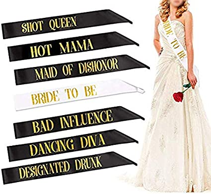 Details about  /Hen Night Party Sash Bride To Be Brides maid Mother of Bride Good//Bad Girl x 1