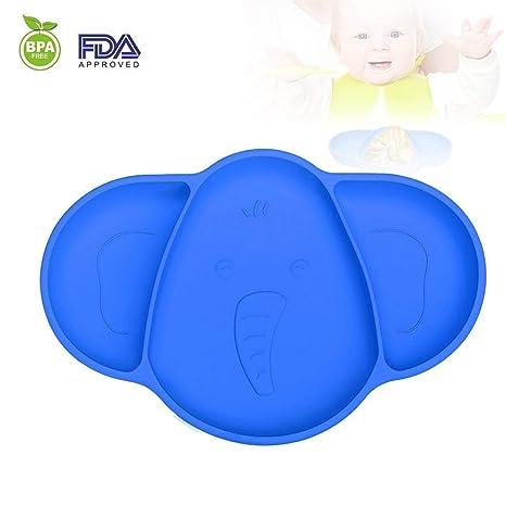 Flyglobal - Manteles individuales de silicona para bebés y niños ...