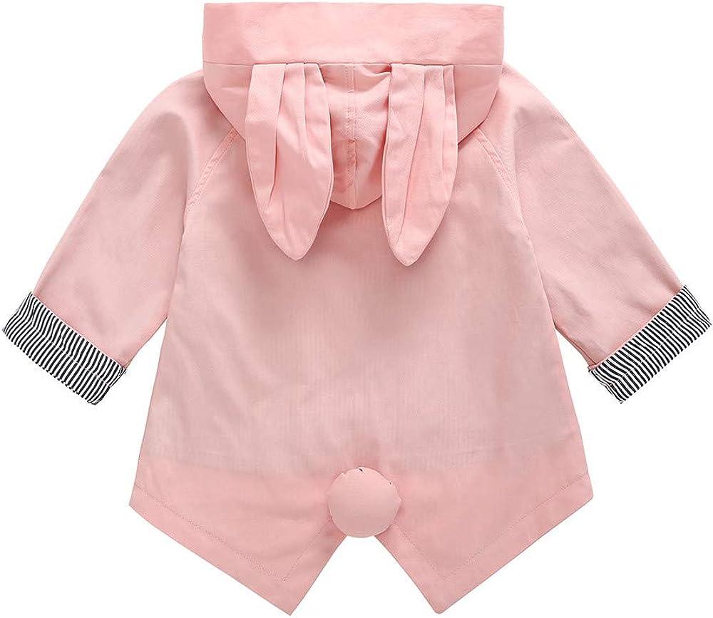 GorNorriss Baby Girl Coat Fashion Cute Cartoon Clothes Rabbit Ear Hooded Outwear