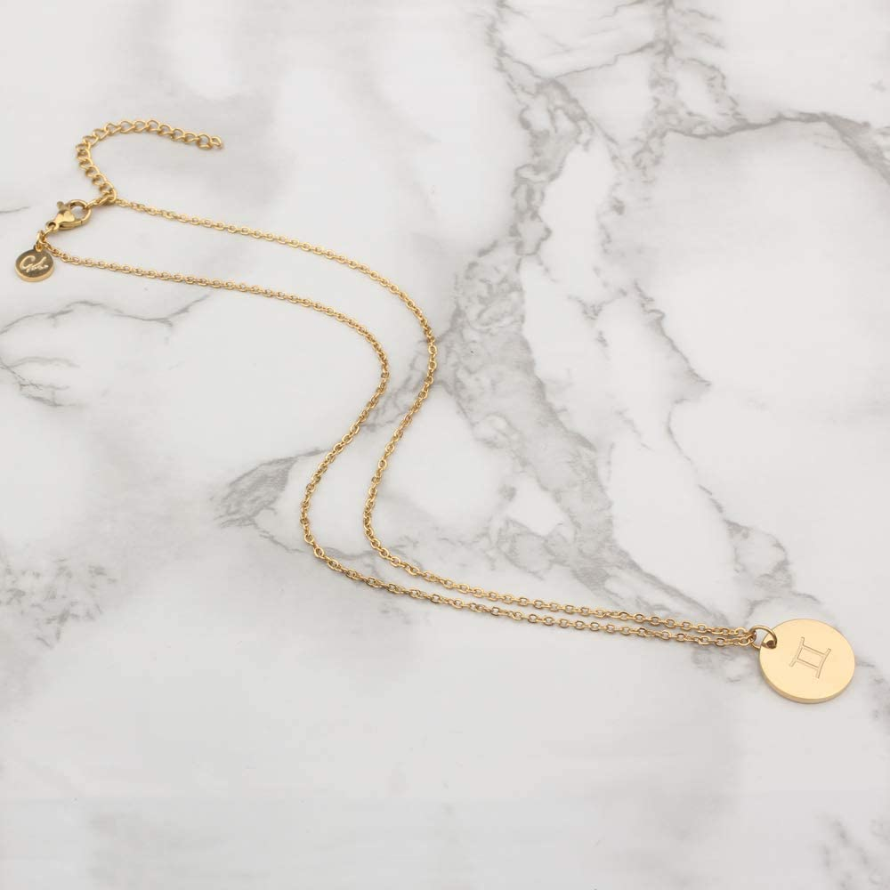 Horoscope Good.Designs /® Collier pour Dames avec Signes du Zodiaque Bijoux Signe du Zodiaque pour Femmes