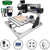 Mophorn CNC Machine 2418 Grbl Control CNC Router Kit 3 Axis PCB Laser Engraver 240X180X40Mm With 5500mW Laser Head Module and Lamp