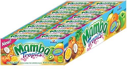 Storck Mamba Tropics Chews 0.88 oz, 48 Packs by Mamba