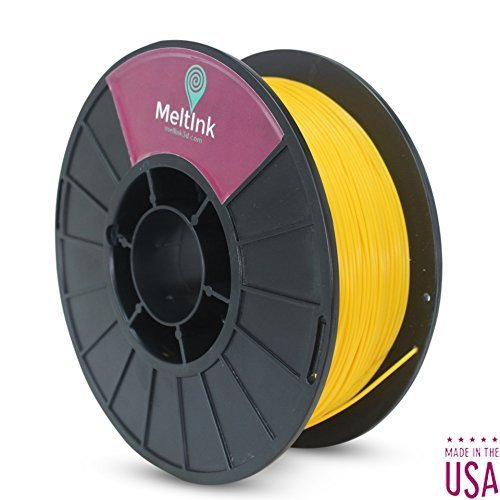 MeltInk3d Yellow 1.75mm PLA 3D Printer Filament 1Kg MeltInk3d Supplies