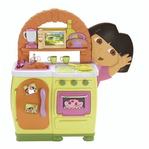 amazon com fisher price dora s talking kitchen toys games rh amazon com dora the explorer kitchen game dora the explorer kitchen center