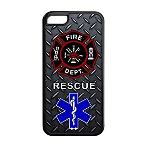 Firefighter iPhone 5C Case Personalized Durable Firefighter Theme Silicone Case Cover