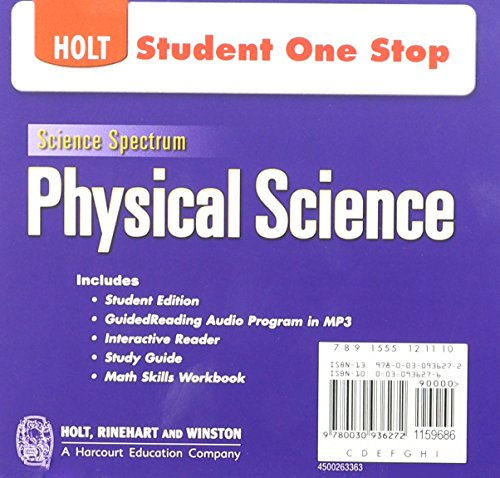 Holt Science Spectrum: Physical Science with Earth and Space Science: Student One-Stop CD-ROM 2008